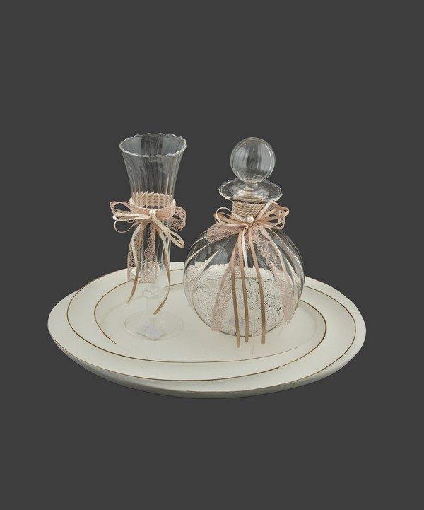 Καράφα και ποτήρι από φυσητό κρύσταλλο