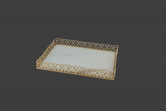 Δίσκος με αλυσίδες σε χρυσό χρώμα