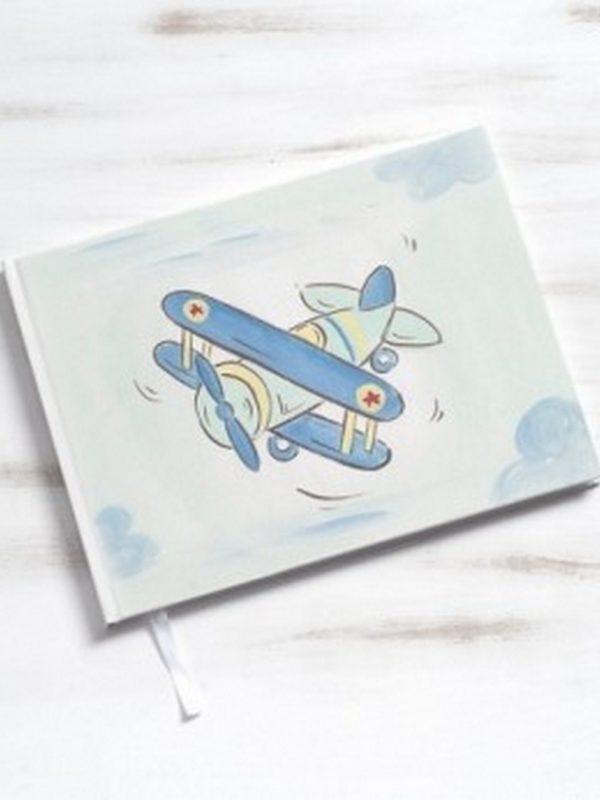 βιβλίο-ευχών-βάπτισης-αεροπλάνο
