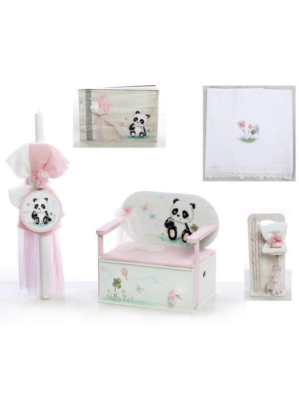 σετ βάπτισης για κορίτσι με θέμα το Panda