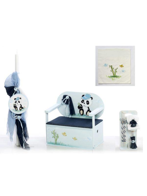 Σετ βάπτισης για αγόρι με θέμα το Panda