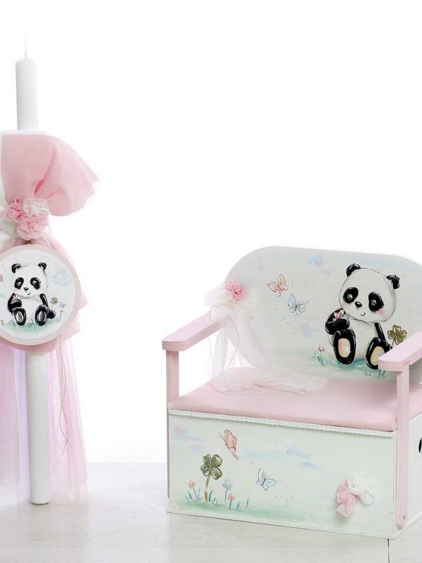 σετ βάπτισης με θέμα το Panda