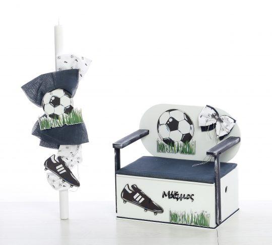 Σετ βάπτισης για αγόρι με θέμα ποδόσφαιρο