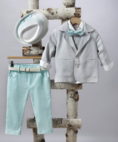 Κοστούμι βάπτισης για αγόρι με σακάκι.